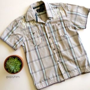 Boys' short sleeved button down